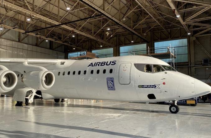E-Fan X  на базе Avro RJ100