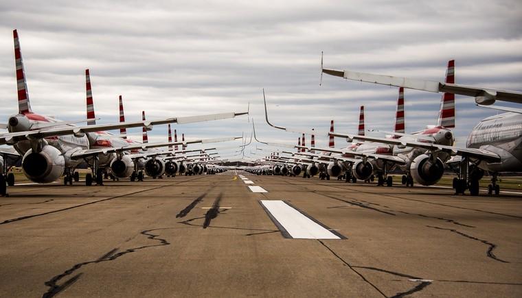 стоянка самолетов в Питсбурге