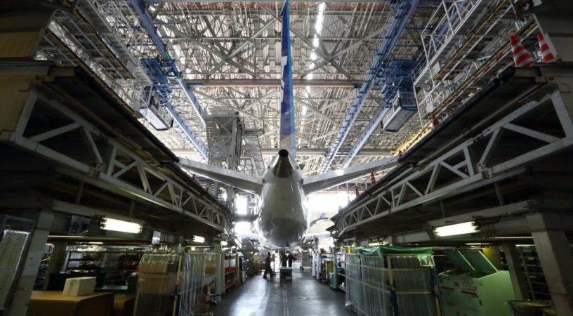 Цех завода Boeing в Сиэтле