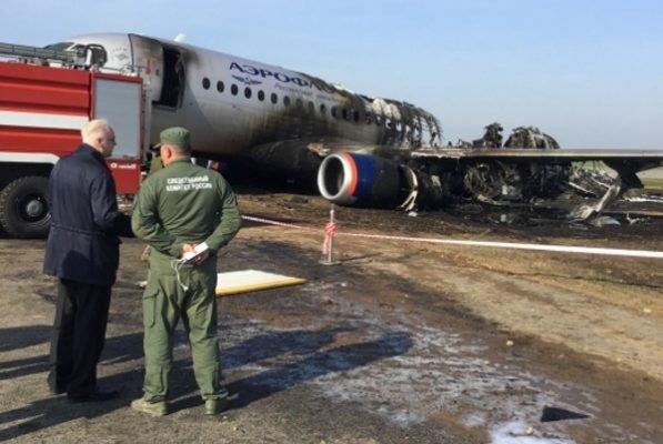 место аварии SSJ-100