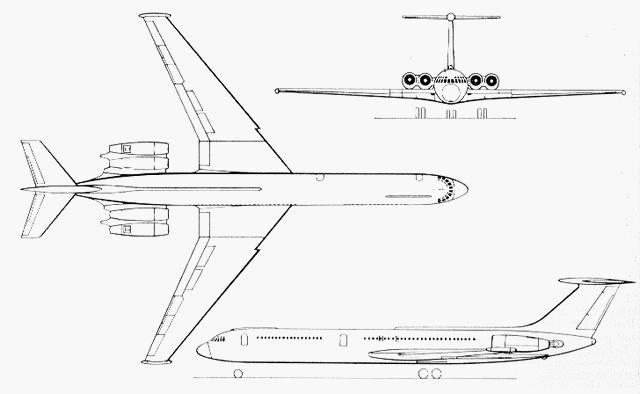 схема Ил-62М