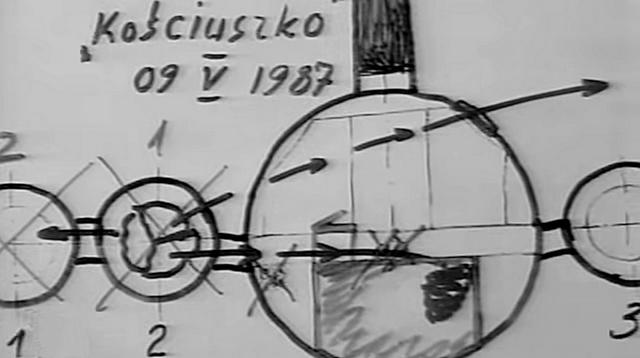 Реконструкция траектории полет обломков двигателя №2