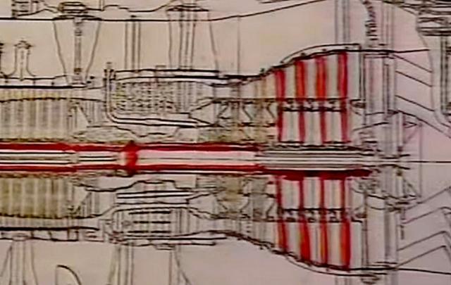 Д-30КУ  в разрезе