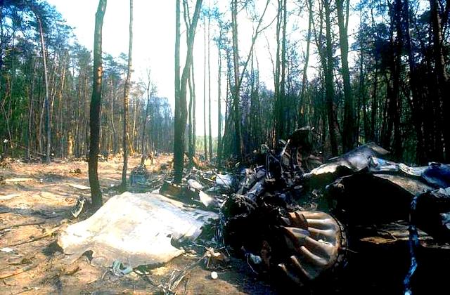 Просека, образовавшаяся от падения самолета-убийцы Ил-62М