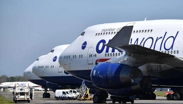 Стоянка самолетов British Airways