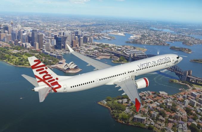Boeing 737MAX-10 над Сиднеем