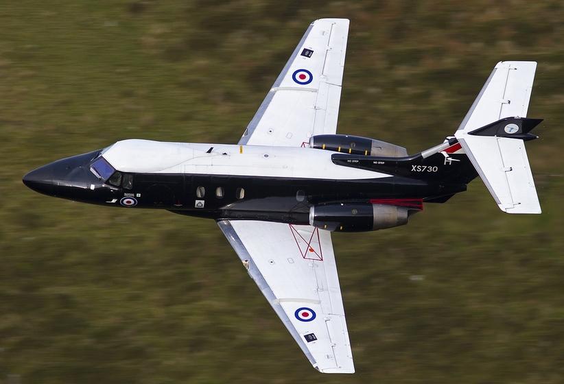 Hawker_Siddeley HS-125-2 Dominie T1 в ливрее британских королевских ВВС