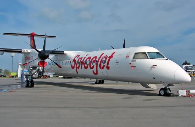 Турбовинтовой самолет компании SpiceJet