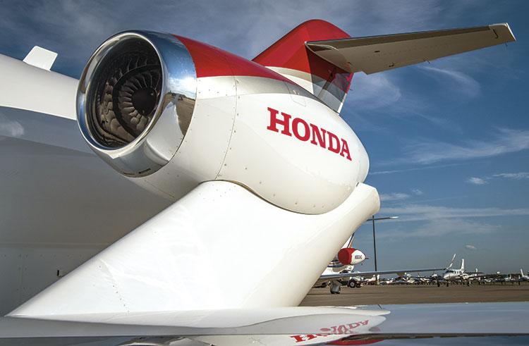 HondaJet  двигатель на пилоне