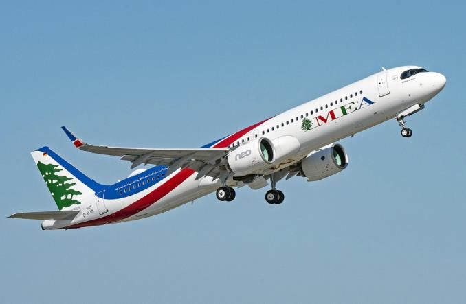 A321neo авиакомпании Middle East Airlines