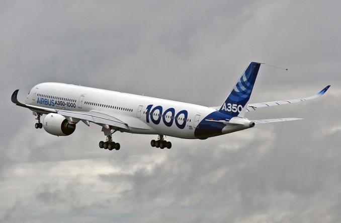 A350-1000 испытательный полет в Тулузе