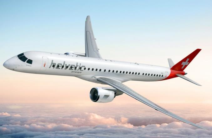 Embraer E195-E2 авиакомпании Helvetic Airways