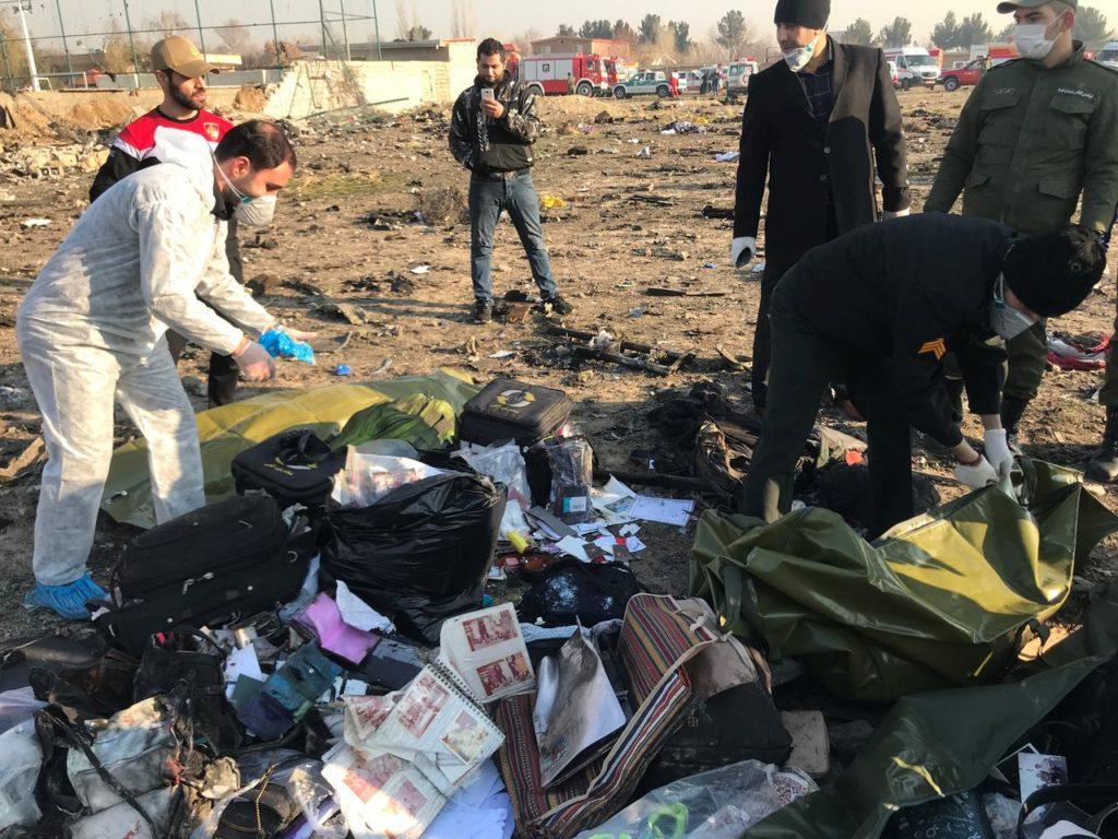 Место катастрофы украинского Boeing-737