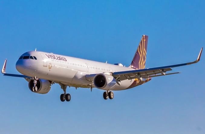 Первый A321neo авиакомпании Vistara