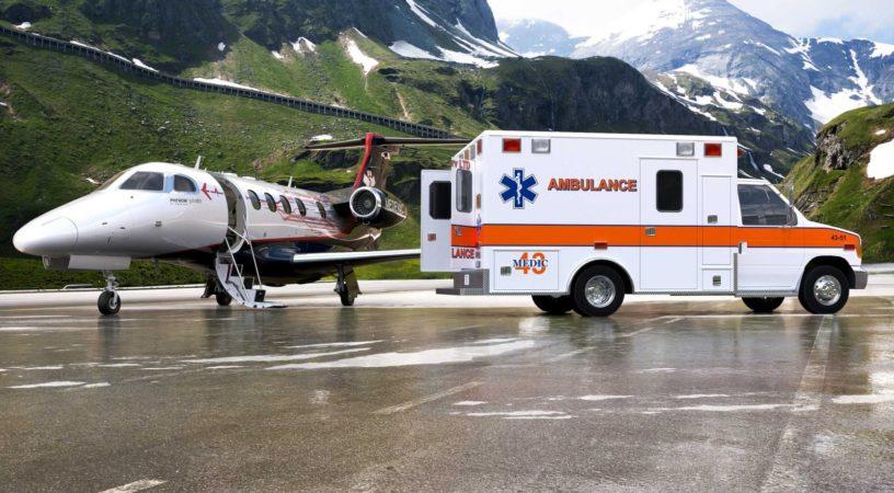 Phenom 300MED для медицинской эвакуации