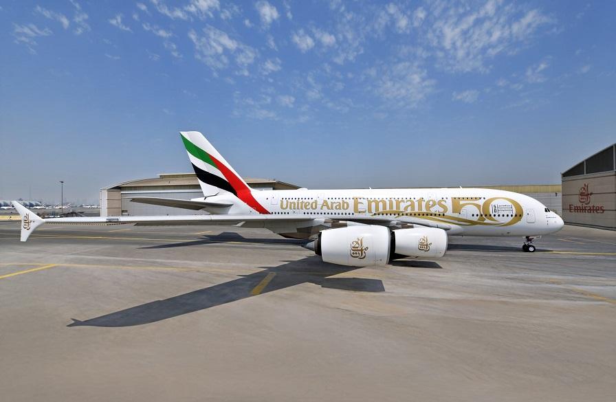 Юбилейная ливрея A380 Emirates