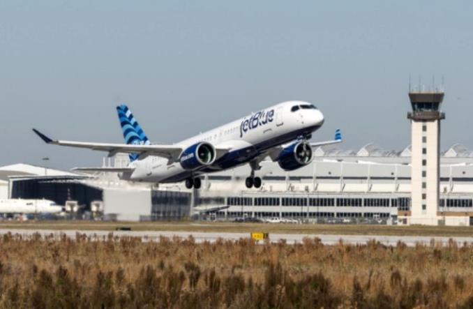 A220 авиакомпании Jet Blue