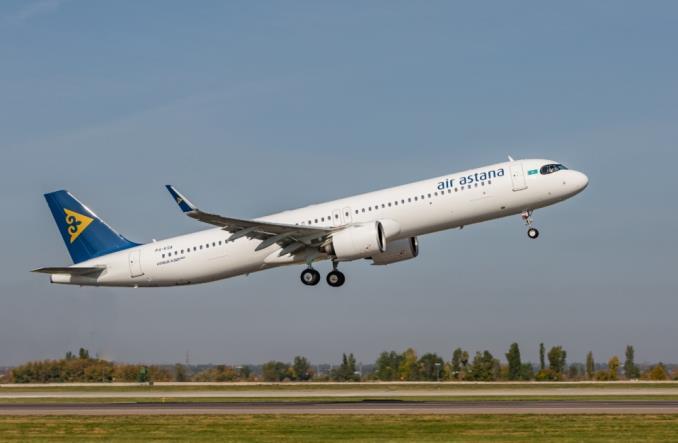 Airbus A321LR авиакомпании Air Astana