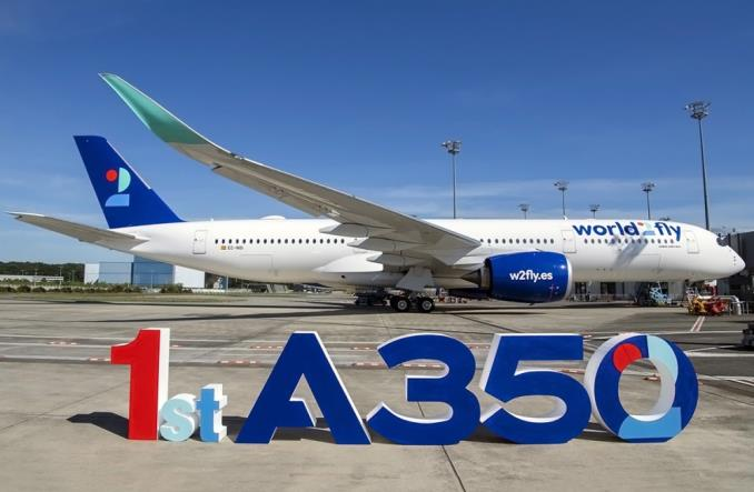 Airbus A350 авиакомпании worldFly