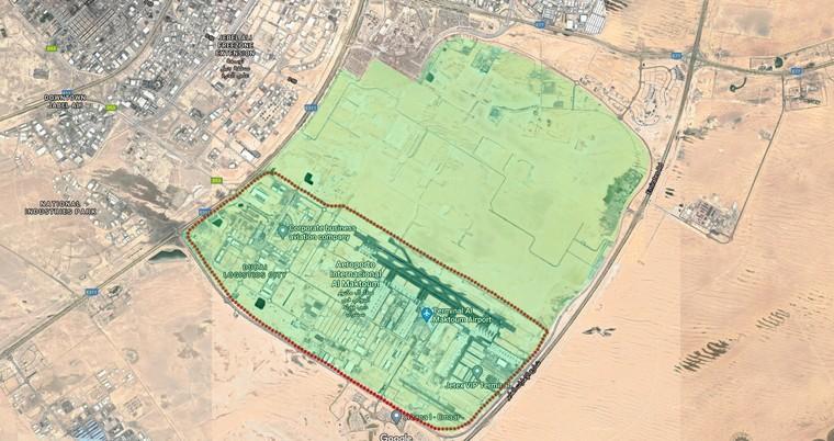 Общая площадь нового аэропорта Дубая