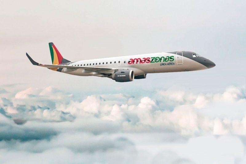 Embraer E190 авиакомпании  Amaszonas