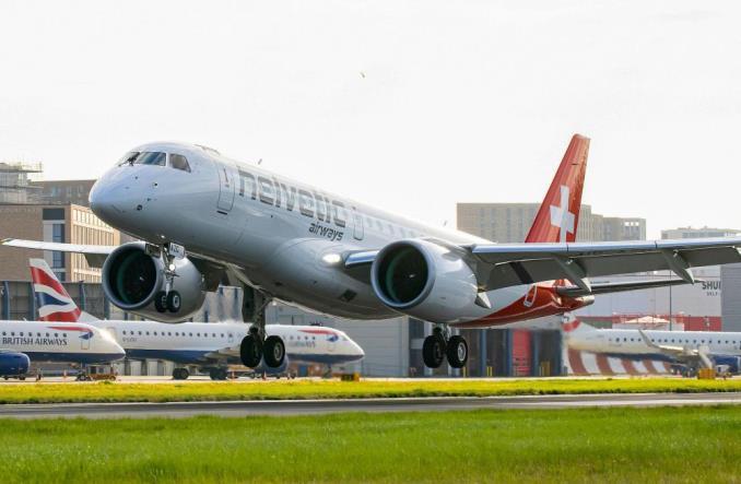 Embraer E190-E2  авиакомпании Helvetic