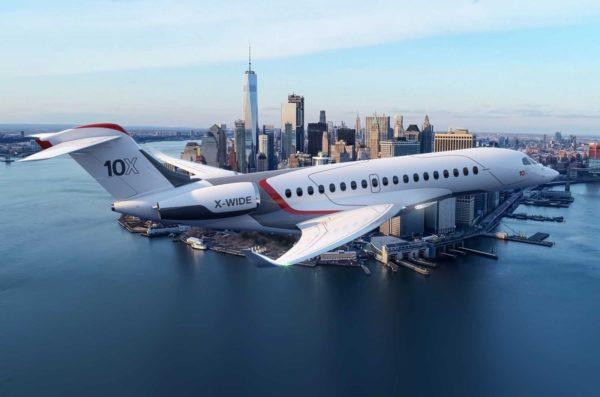 Концерн Dassault Aviation представил свой новейший бизнес-джет Falcon 10X