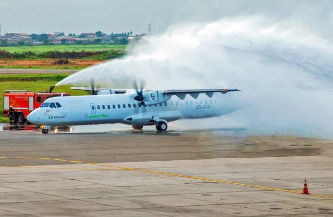 Первый ATR 72-600 авиакомпании Green Africa Airways