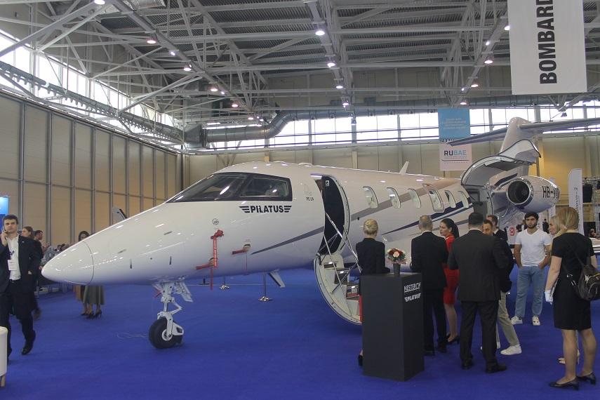 Бизнес-джет Pilatus PC-24 на выставке RUBAE-2021