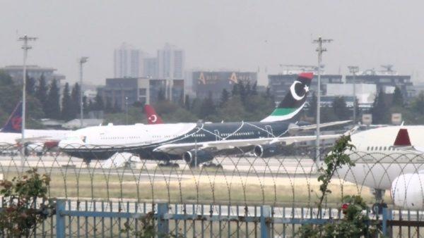 Самолет Муаммара Каддафи в Стамбуле