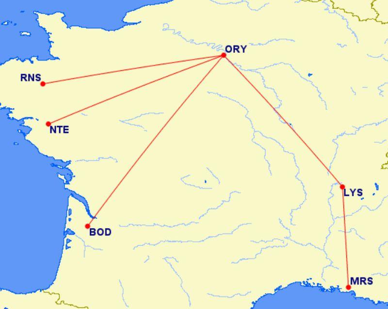 Маршруты во Франции, попадающие под запрет