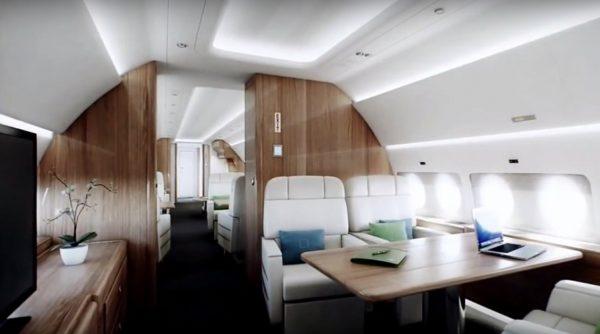 В салоне Sukhoi Business Jet
