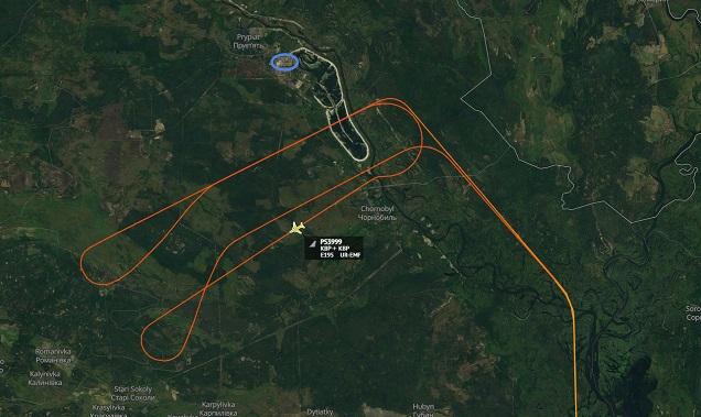 Маршрут обзорного полета вокруг АЭС