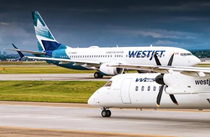 Boeing 737 MAX 8 авиакомпании WestJet